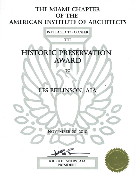 IAI, Historic Preservation Award.